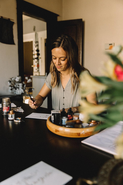 Minneapolis calligraphy home studio