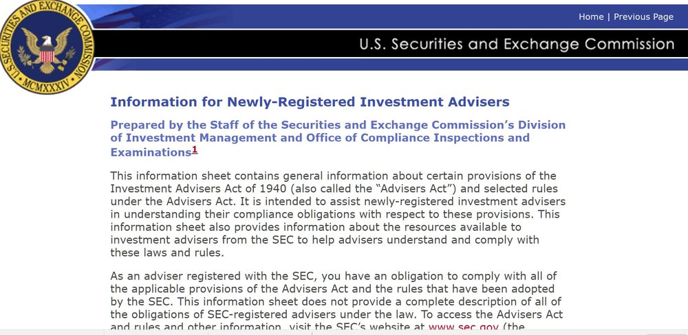 investment adviser compliance Educating a Newly-Registered US Investment Adviser — ReGroup, LLC ...