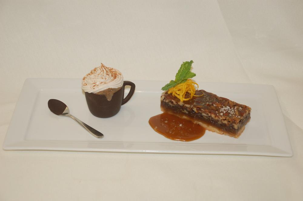 BROWN BUTTER PECAN BAR Espresso Gelato, Chocolate Cup, Kahlua Caramel