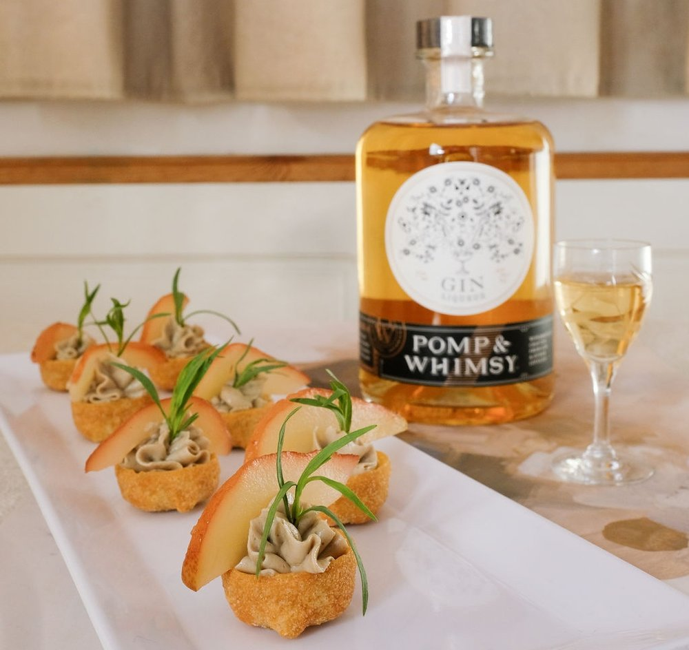 Pâté du Foie Gras Mousse with Pomp & Whimsy Poached Pear (Bessie Lacap Photography)