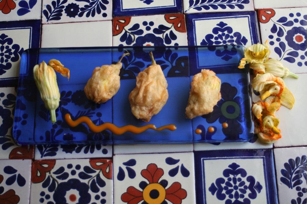 Ricotta-stuffed Zucchini Blossoms