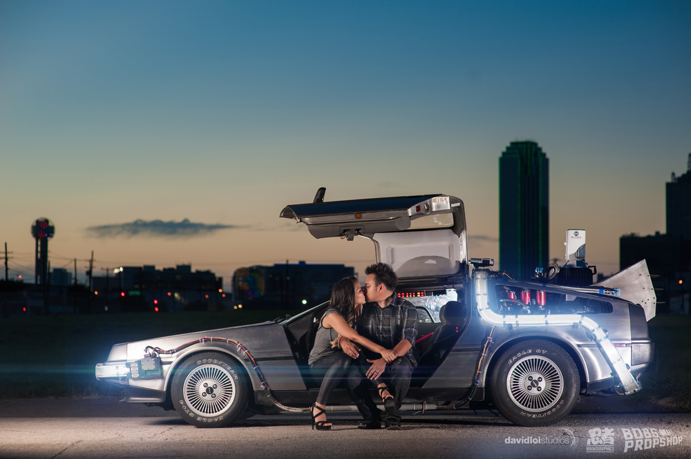 Back to the Future Engagement Session Dallas TX - 4.jpg