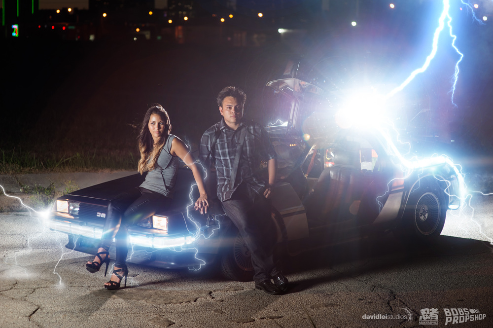 Back to the Future Engagement Session Dallas TX - 6.jpg
