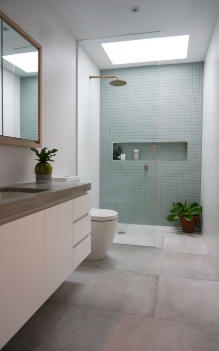 Illusions with Light:  Have you ever wished your first floor bath could have a little more natural light?  CorLux , a European company, has developed a lighting system using LED that mimics the look and feel of natural light. Genius!