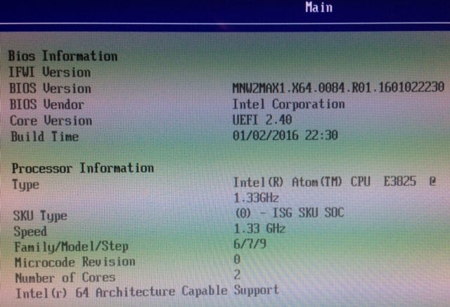 Minnowboard Max: Enable the firmware (TXE) TPM 2 0