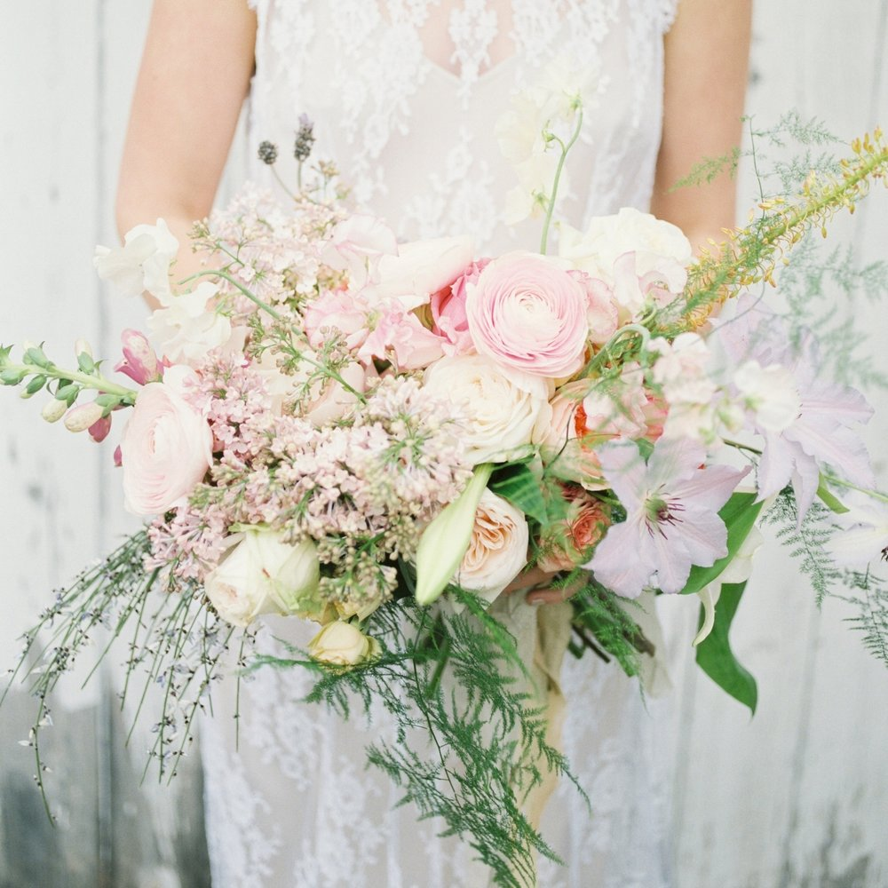 Spring bridal bouquet by Flora & Ephemera
