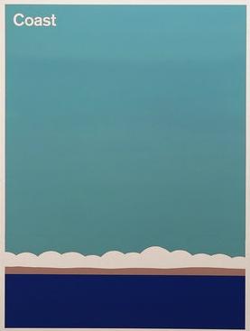 "Julian Montague  Landscape Features, 2015   32"" x 24""   Aerosol Paint on Medium Density Fibreboard  S OLD"