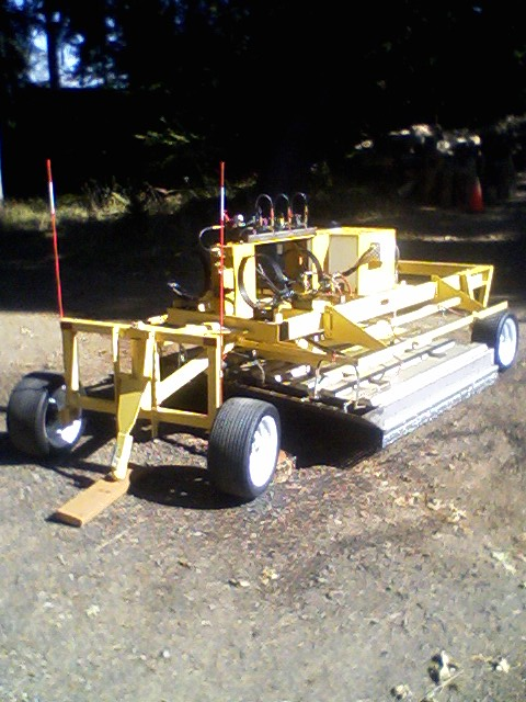 Unique trailer unit for trail maintenance
