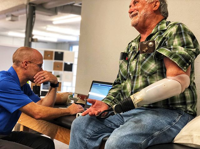 Larry is a wonderful patient of ours! He's a hard worker on the field and overjoyed for his new #ArmProsthesis. This devices, #AxionHook from Ottobock, contributes to his many tough hours at work and we're always happy to help. He's also being fitted for his #MichaelangeloHand too!  You can always send us a message if you have any questions. 👍🏼💪🏼 • • • • #blueskysthelimit #blueskyprosthetics  #HardWorkingMan #austintx #atx #adaptive #Ottobock #ottobocklove #armamputee #AustinAmputee #LivingWithoutLimits