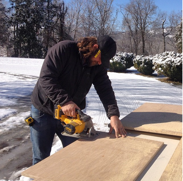 Our lead carpenter is an all-weather craftsman.
