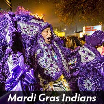 New Orleans Mardi Gras Indians Photos