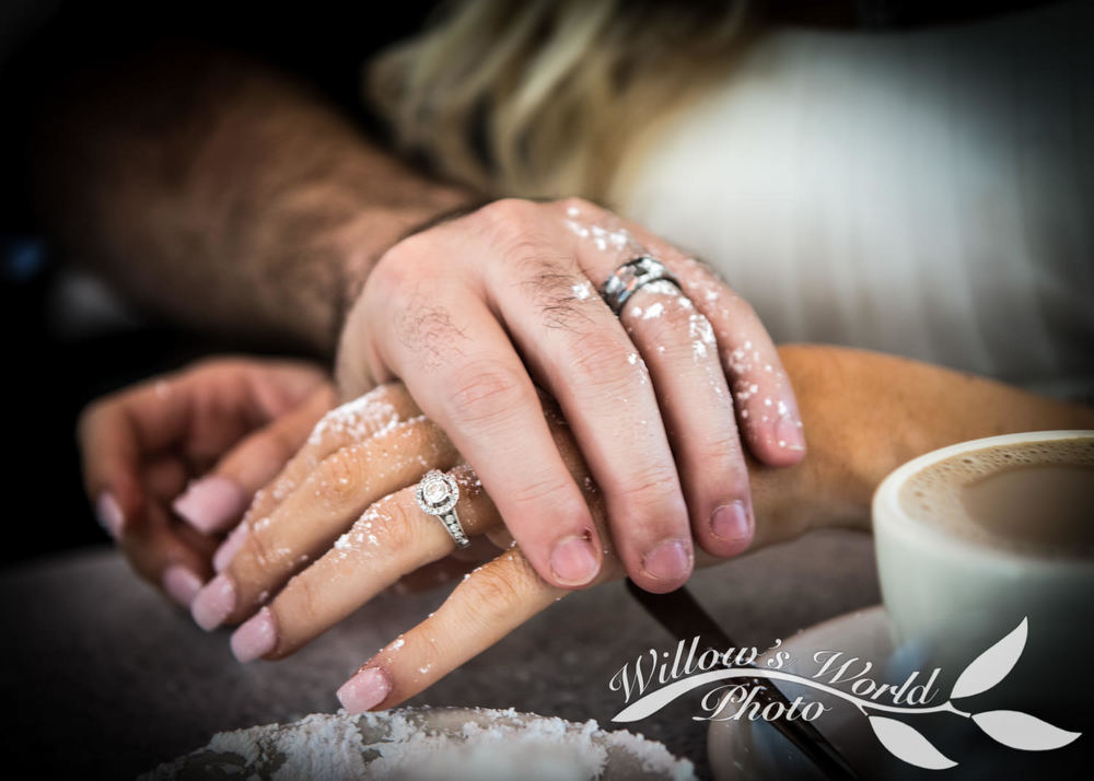 Beignet sugar and wedding rings - does it get more delightfully NOLA than that?