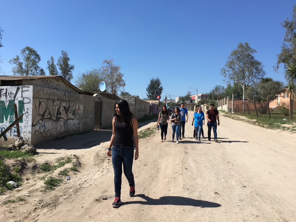 Arriving in Maclovio Rojas to conduct community survey