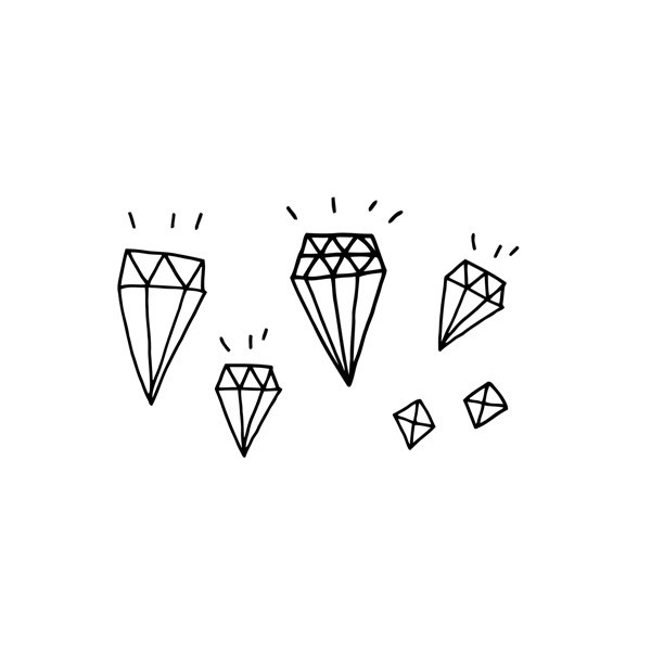 I get all my temporary tattoo needs from  Tattly . And now you can get  Kate 's  diamonds  on body. I know you want  Kate's diamonds  on your body.