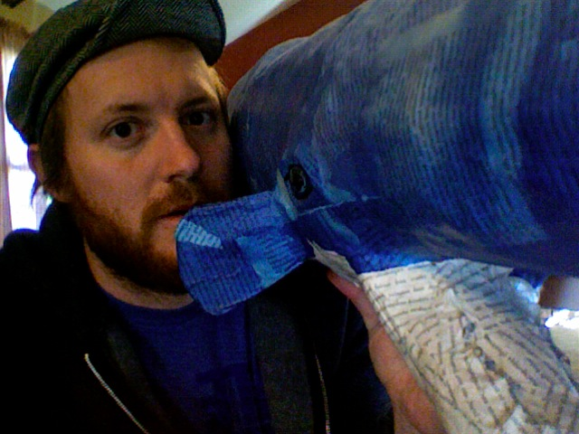 My mom gave me a big whale (courtesy of local Council Bluffs, IA, artist Cait Irwin).