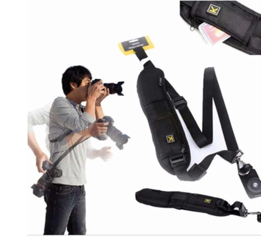 If your camera is a pain in your neck, you need this shoulder strap. I currently use 2 of these things!