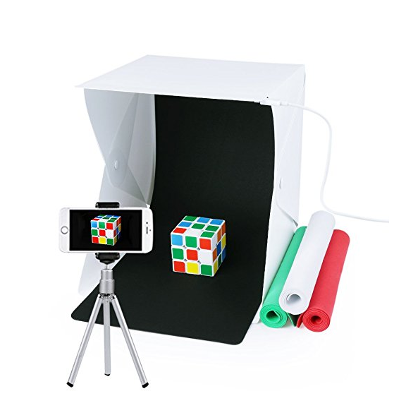 $13.98 - A great way to practice photography is to take product photography shots of things lying around the house. This little kit will allow the photographer to get great shots of small objects.