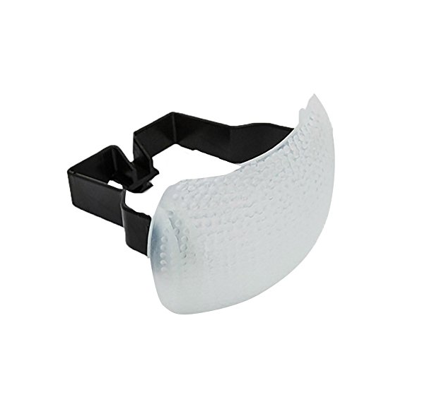 $18.95 - This pop-up flash diffuser allows you to take away the deer in headlight look from your on camera pop-up flash. It helps photographers take their flash game to the next level and easily make better lit photos.