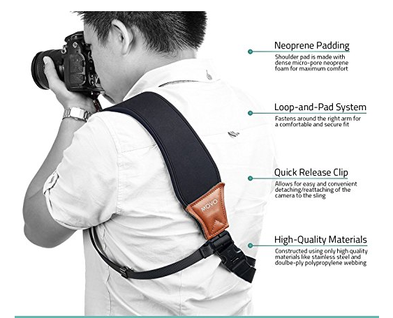 $29.95 - This high quality camera strap is the quickest way for a photographer to elevate their look and save their neck. This comfortable strap is a perfect fit and one that any photographer would love to have.