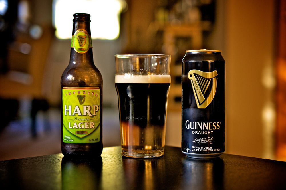 Half Harp, half Guinness, all Irish. Happy St. Patrick's Day.