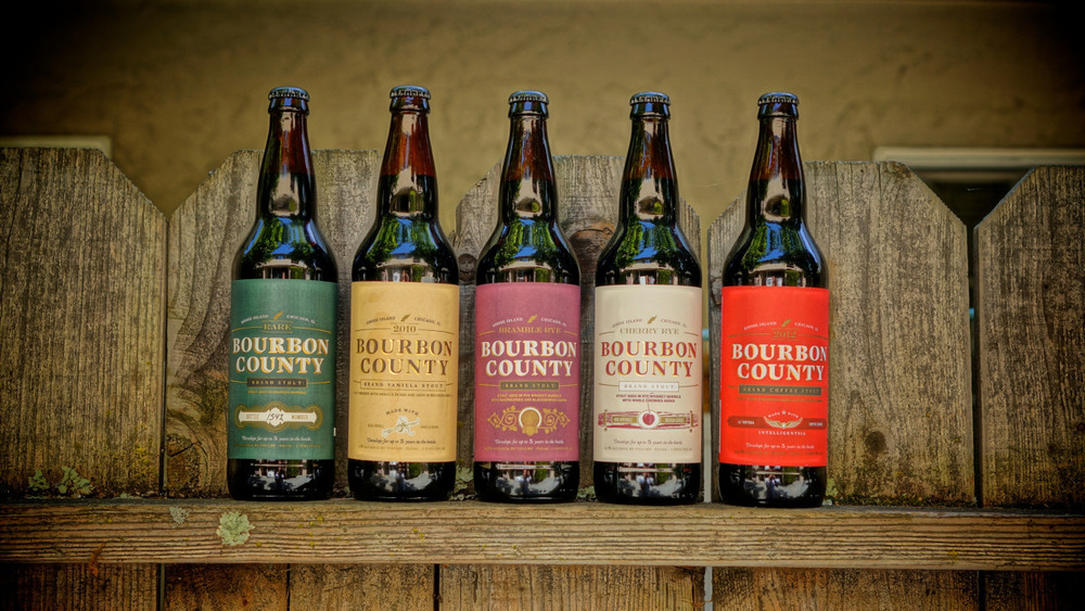 Rare (2010). Vanilla (2010). Bramble Rye (2011). Cherry Rye (2012). Coffee (2012). The 5 variants (so far) of Bourbon County Brand Stouts from Goose Island. It's time for a tasting party.