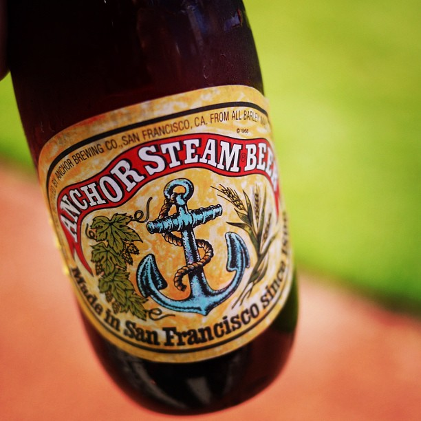 On the warning track with @AnchorBrewing before the @SFGiants take on the @Dodgers. It's a rough #SF life. #craftbeer (Taken with  Instagram  at AT&T Park)