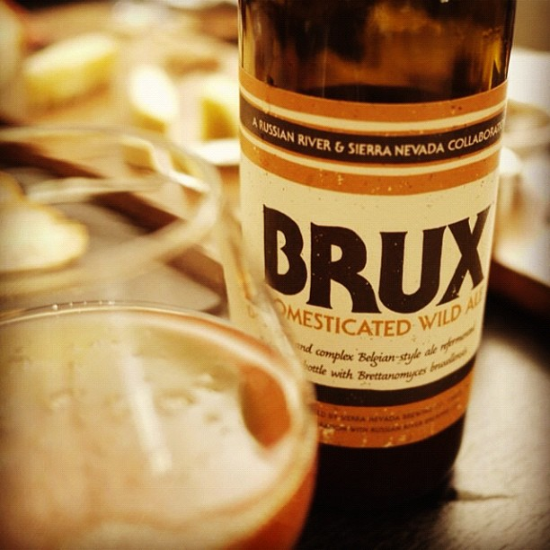 "Russian River + @SierraNevada = ""Brux"" Domestic Wild Ale. Excited to cellar the rest. #craftbeer  (Taken with  Instagram )"