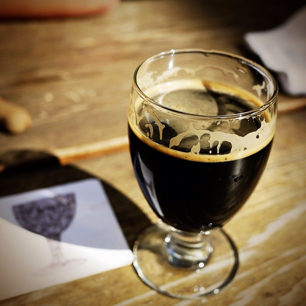 'Imperial Russian Stout' from @StoneBrewingCo on a sunny afternoon at @TheTrappist #craftbeer (Taken with  Instagram  at The Trappist)