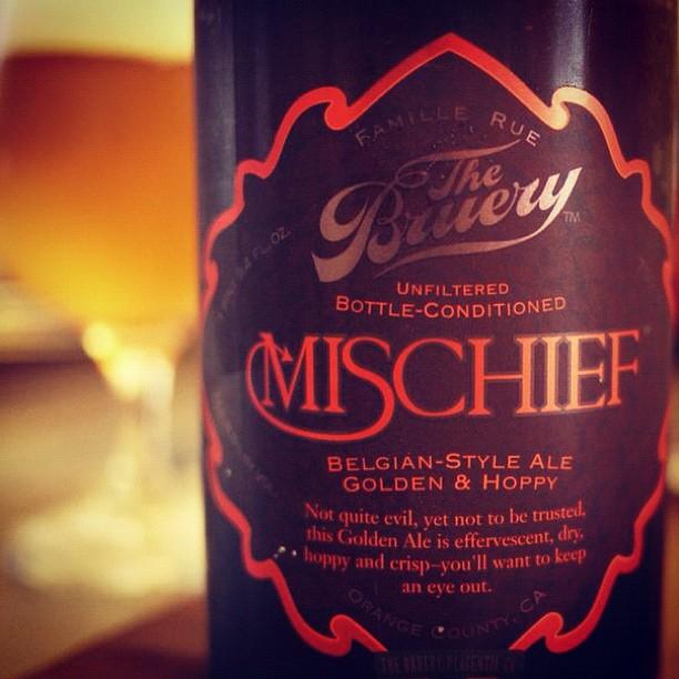 """Sunday night """"Mischief"""" // @TheBruery"""