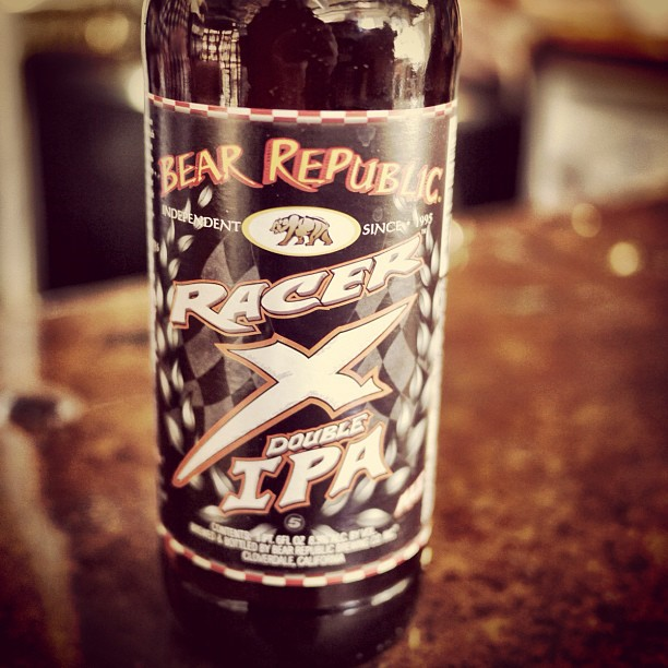 """Racer X"" in bottles, first time ever and only for #sfbeerweek // @citybeerstore @brbcbrew"