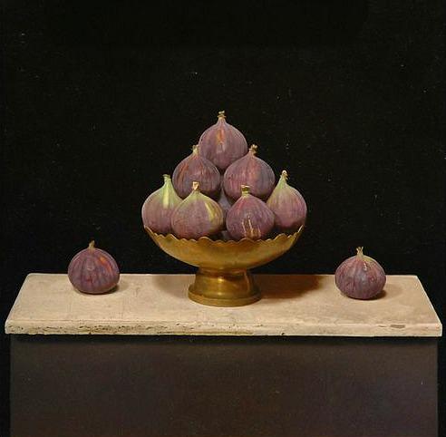 stilllifequickheart: Sian Hopkinson Pyramid of Figs 21st century