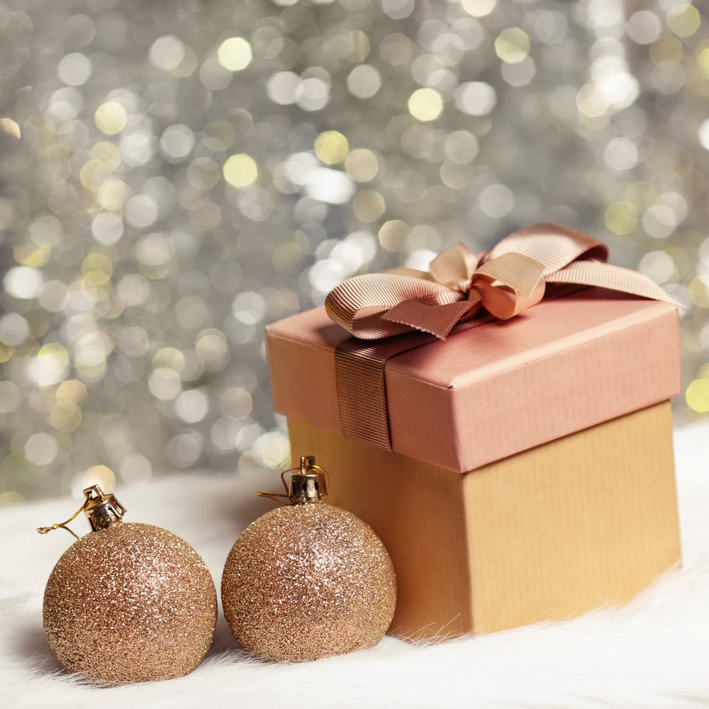 A stock image of festive items