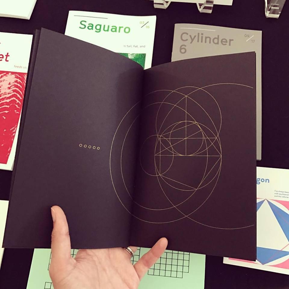 Constructible Polygon zine by Ivy Zheyu ( Upon Studio )