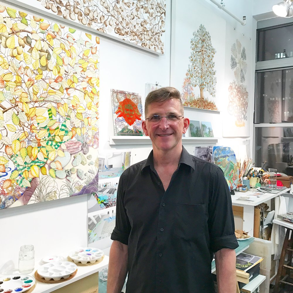 Michael Eade in his studio at the Elizabeth Foundation for the Arts during Open Studios last year.