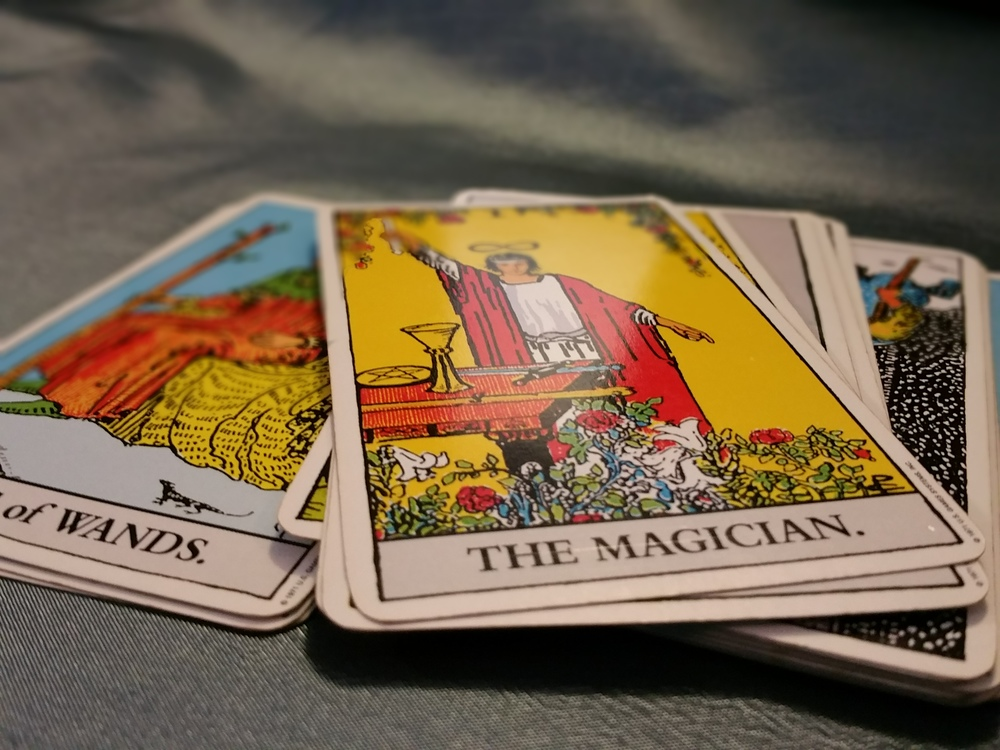 I primarily use the Rider-Waite deck (as shown above), but have other, more kid-friendly decks as well.