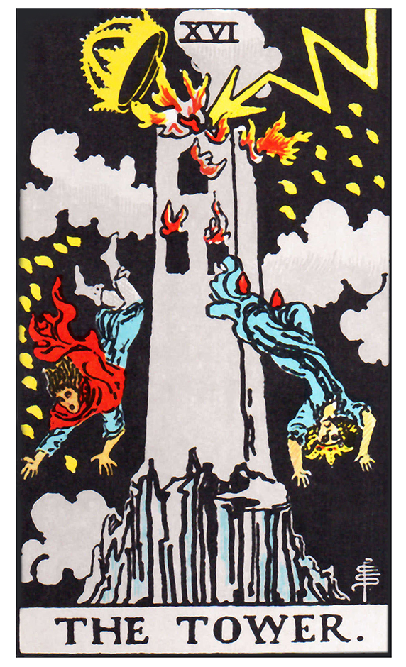 The Tower card.