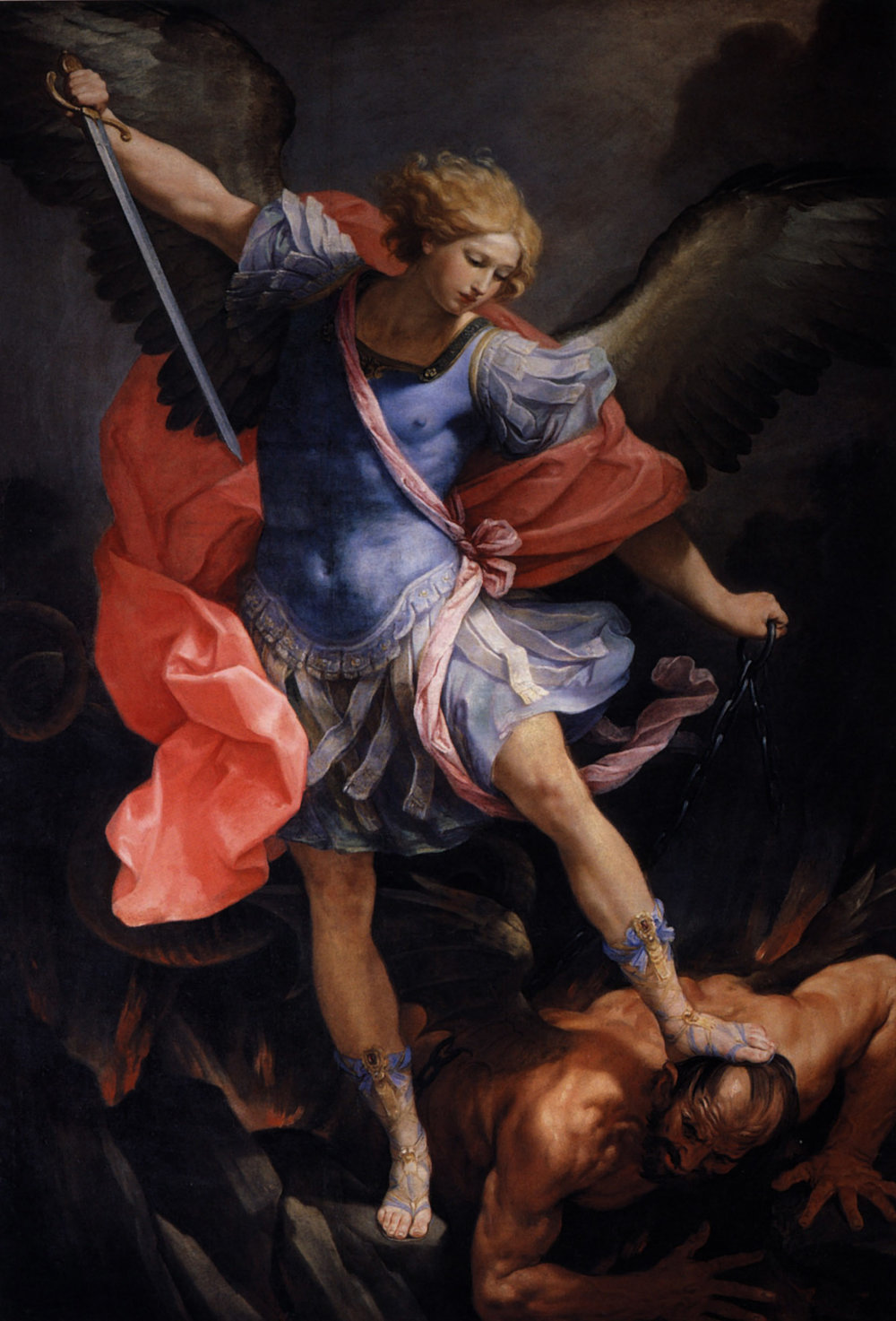 The Archangel Michael defeating Satan (1635) by Guido Reni
