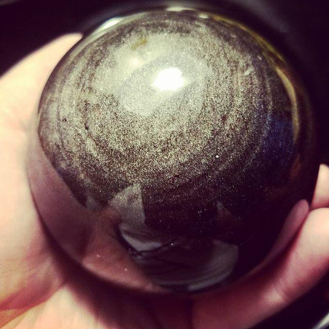 silver-sheen obsidian