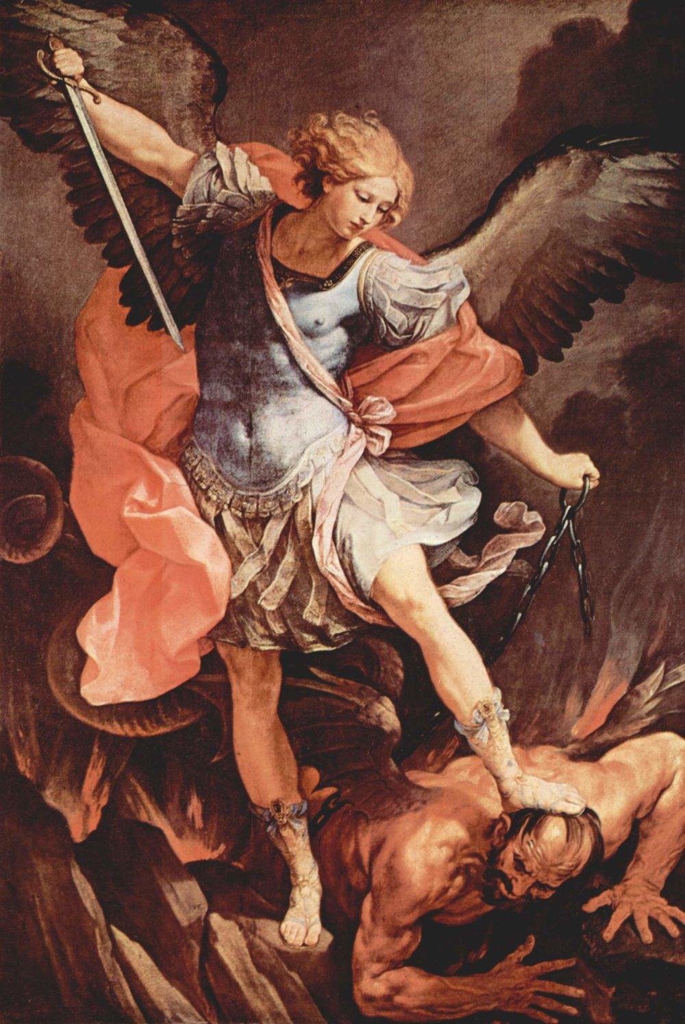 Guido Reni,  The Archangel Michael Defeating Satan , 1635,Santa Maria della Concezione de Cappuccini, Rome