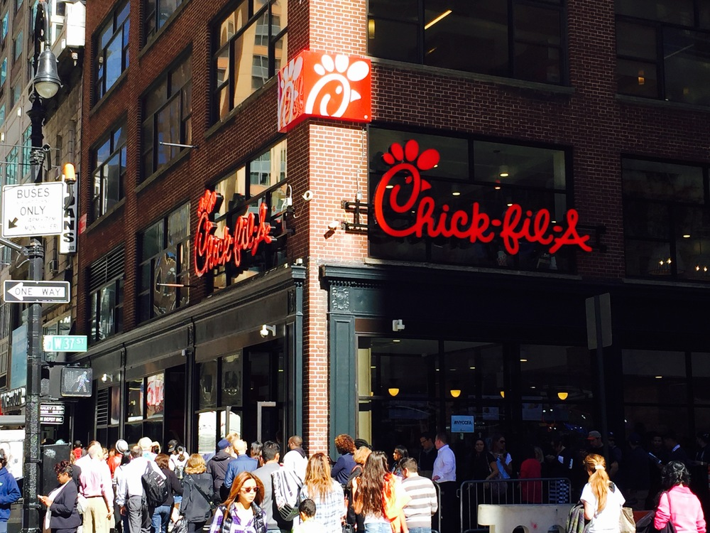 The newly opened Chick-Fil-A in New York City