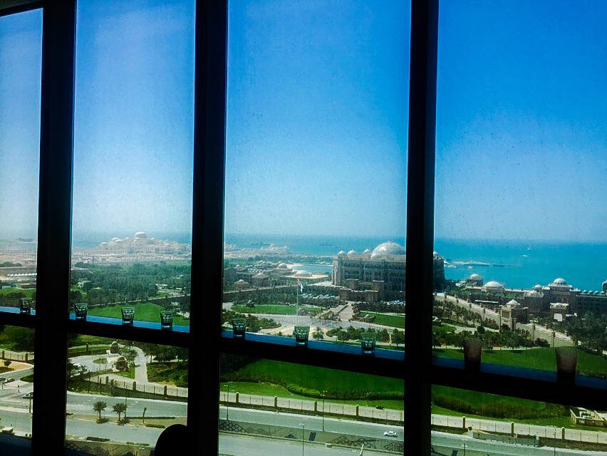 The view from my room at the Jumeirah Etihad Towers.