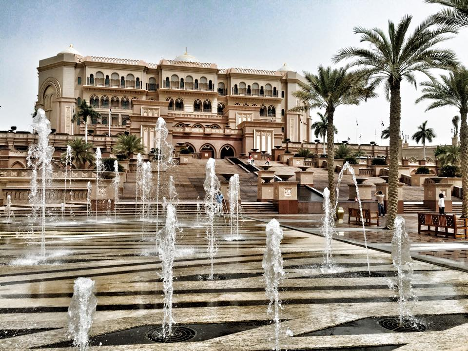 Up close and personal at the Emirates Palace.