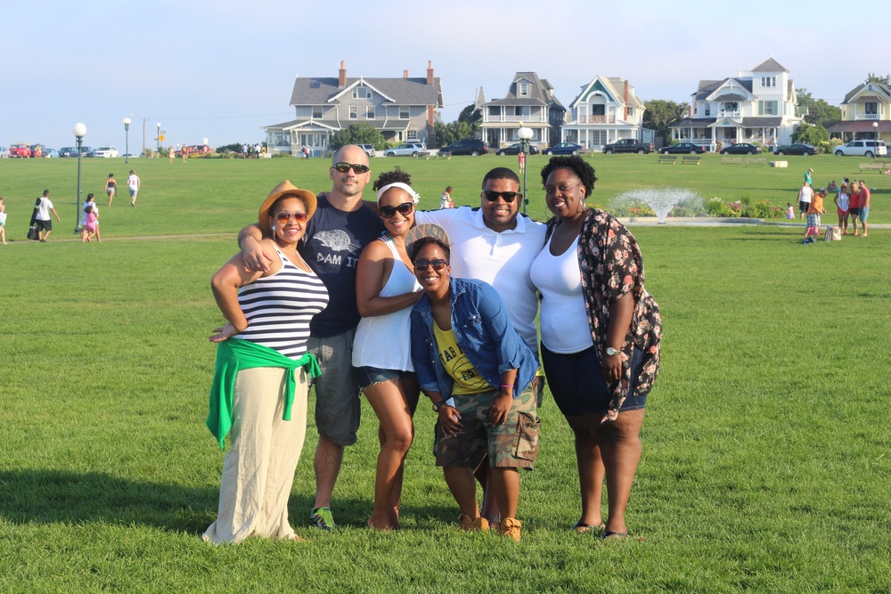 On the lawn in Oak Bluffs, Martha's Vineyard.