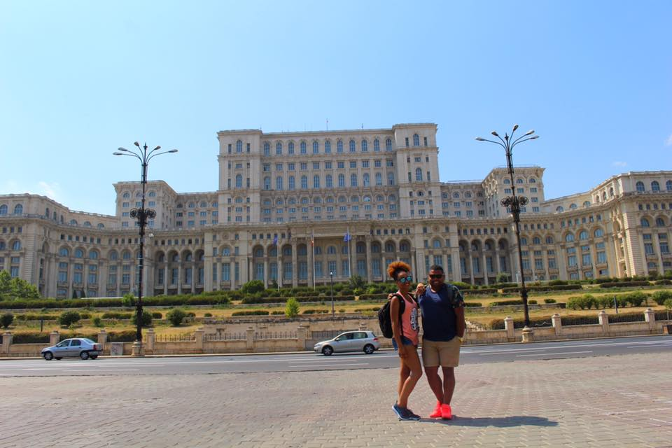 Snapped a picture in front of the Palace of the Parliament, before hopping in an Uber and heading to the Therme Bucaresti.