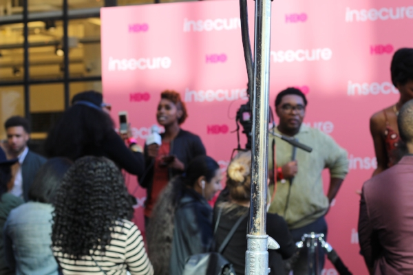 Issa Rae and the cast of Insecure at the block party in Industry City, Brooklyn