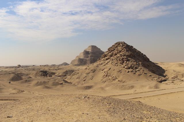 Pyramids in Sakkara, Cairo
