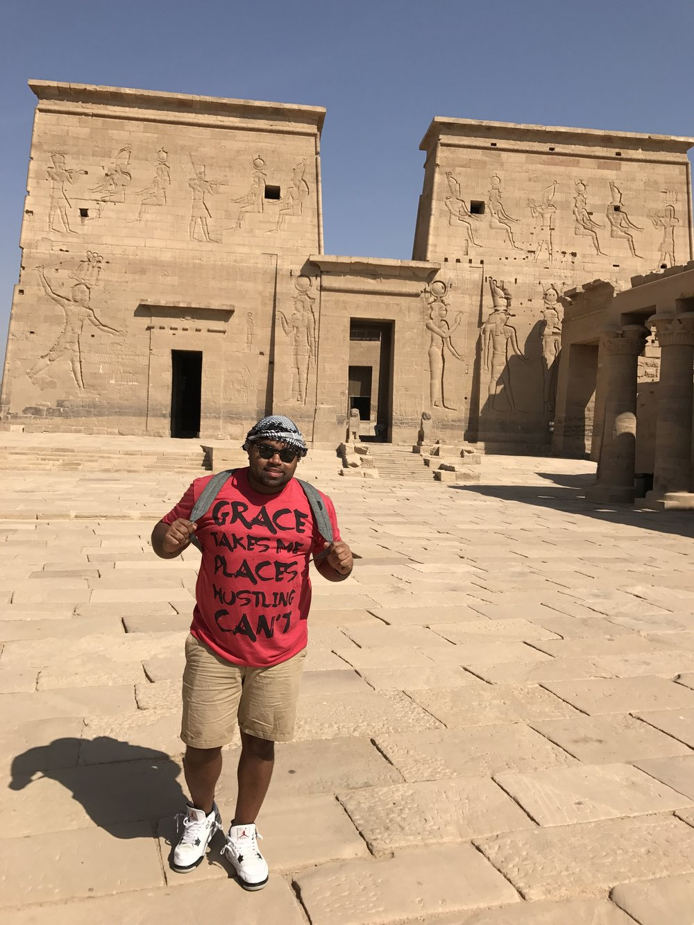 At the Philae Temple in Aswan, Egypt