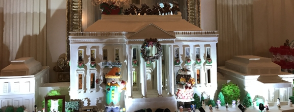 The 420-pound gingerbread house is a tradition at the White House.