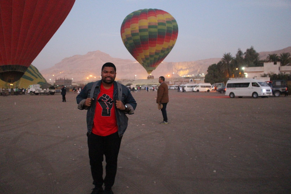 Waiting to board my hot air balloon and watch the sunrise over the Valley of the Kings