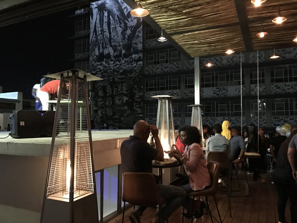 AGOG, an art gallery and rooftop lounge located in Maboneng.